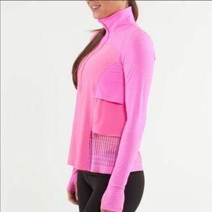 Lululemon Flash Pink Ruffle Sun Runner